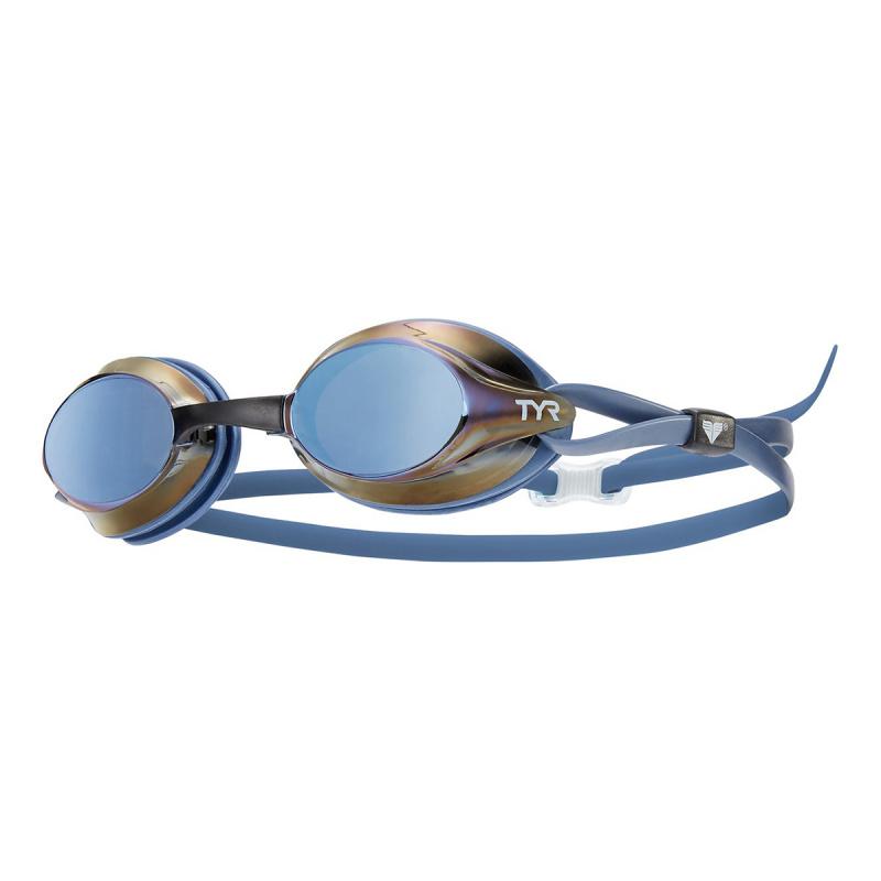 成人競賽鍍膜泳鏡 - 金屬藍