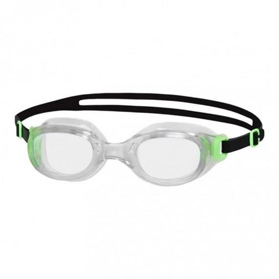 成人經典柔軟舒適泳鏡 - 透明/綠