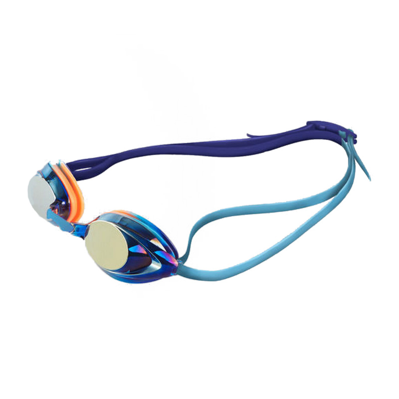 少年 Vengeance 競賽訓練鍍膜泳鏡 - 藍/橙/藍銀