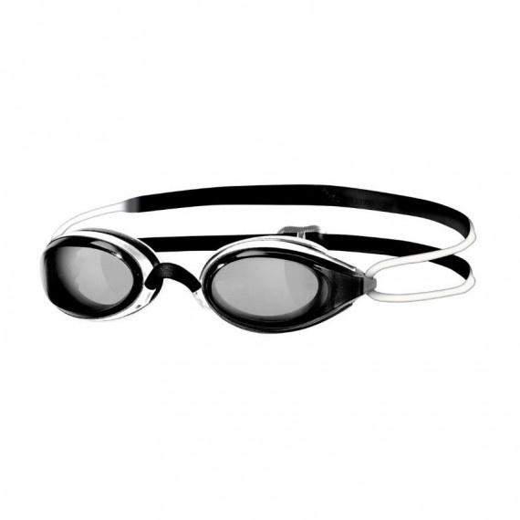 少年氣墊競賽泳鏡 - 黑/白