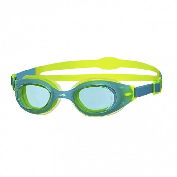 少年氣墊泳鏡 - 湖水綠/黃