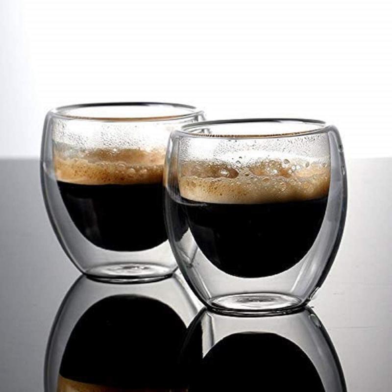 雙層隔熱玻璃杯80ml[2件]