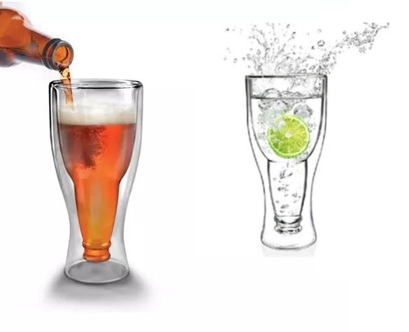 雙層倒轉可樂啤酒樽保冷杯 350ml