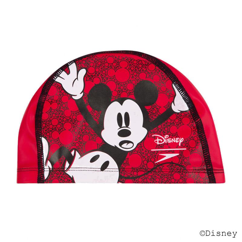少年米奇老鼠PU塗層泳帽 - 紅/黑