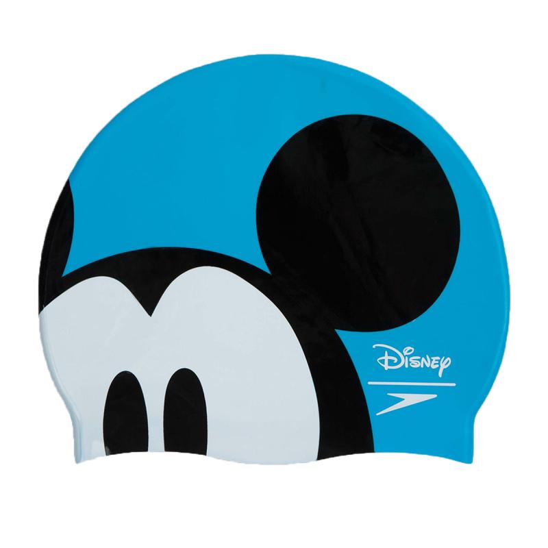 少年米奇老鼠矽膠泳帽 - 藍