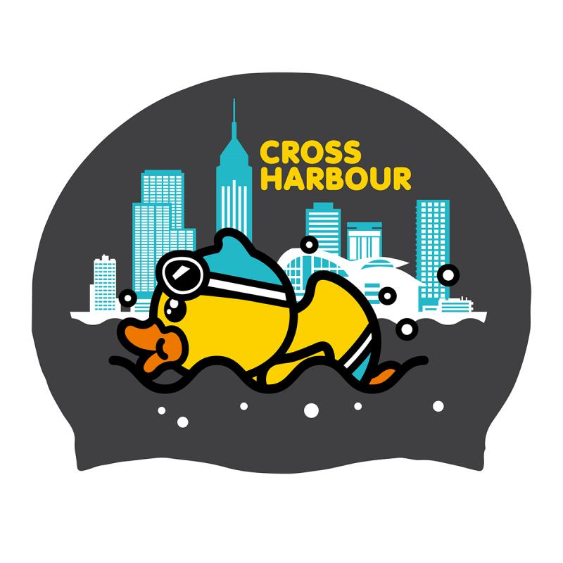 特別版矽膠泳帽 - 維港渡海泳