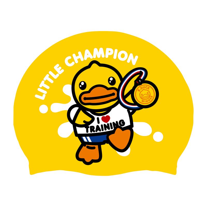 特別版矽膠泳帽 - 冠軍鴨
