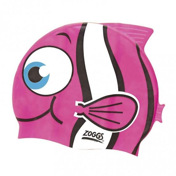 角色造型矽膠泳帽 - 粉紅