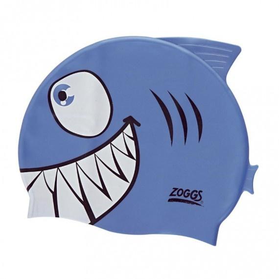 角色造型矽膠泳帽 - 鯊魚