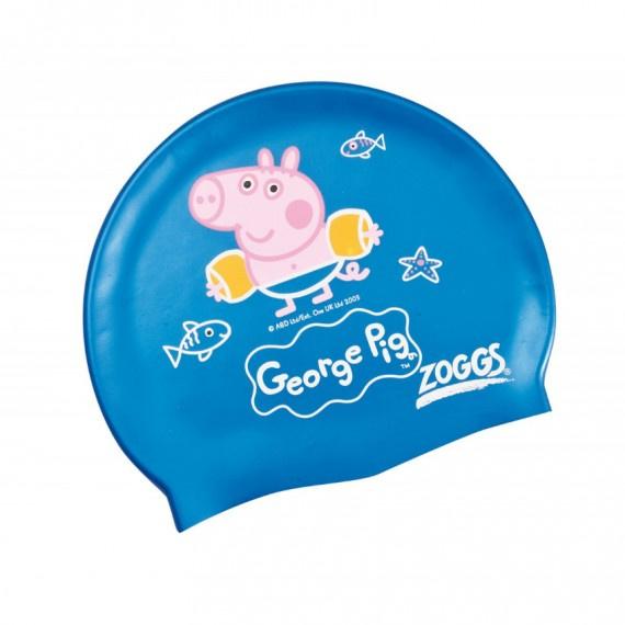 George 矽膠泳帽 - 藍