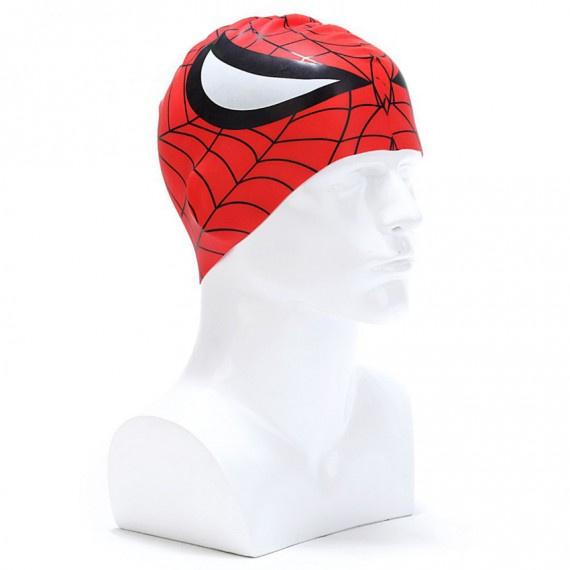 矽膠泳帽 - 紅/黑