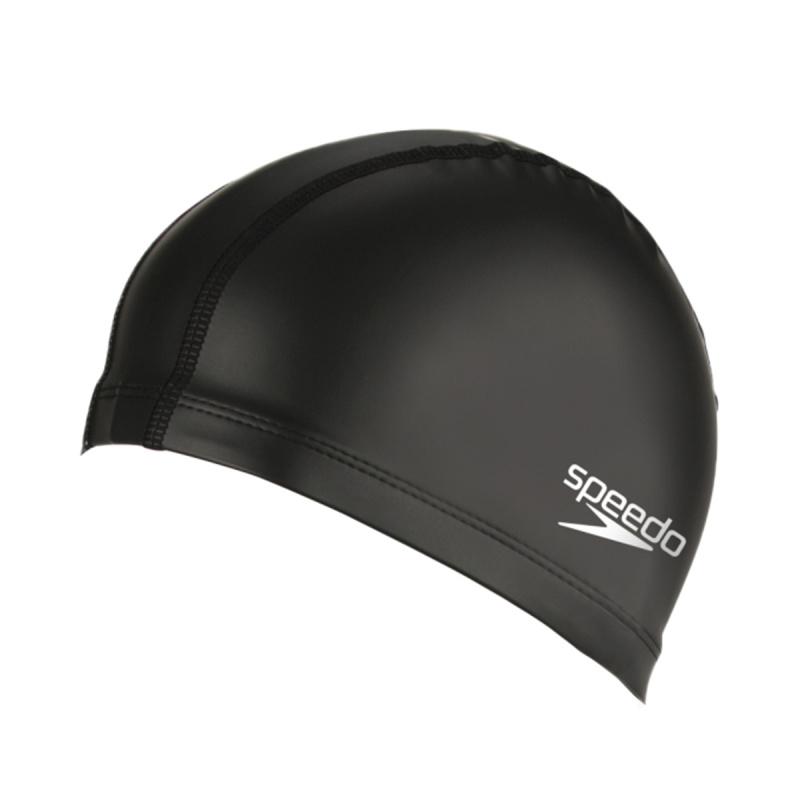 成人PU塗層泳帽 - 黑