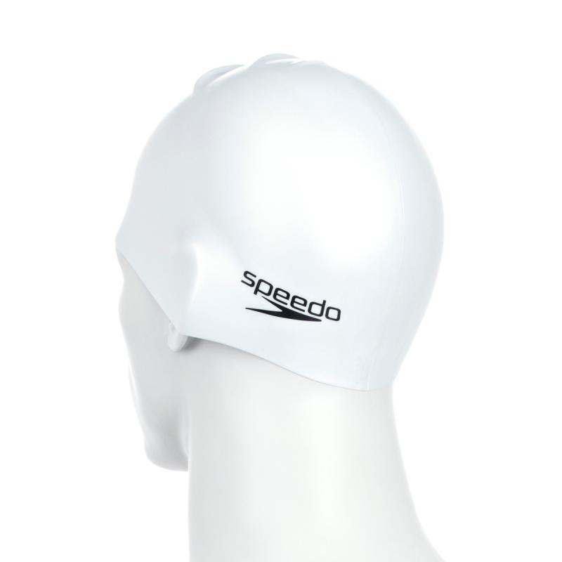 成人模壓矽膠泳帽 - 白