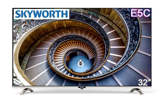 Skyworth 32''Smart TV (LED-32E5C) 3 YEARS WARRANTY