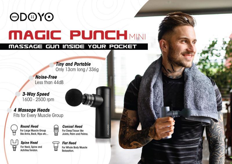 ODOYO - Magic Punch Mini Massage Gun (Black/Grey)💆♀️💆♂️