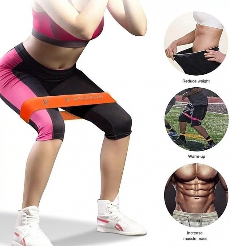 【沒有阻力帶解決不了的脂肪】ZAKERDA 瑜伽🧎♀️ 健身阻力帶💪(5條阻力帶)🌈