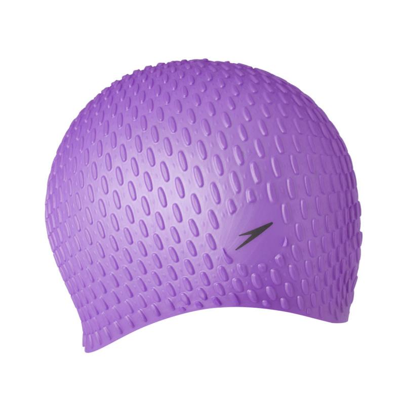 成人泡泡矽膠泳帽 (長髮適用) - 紫