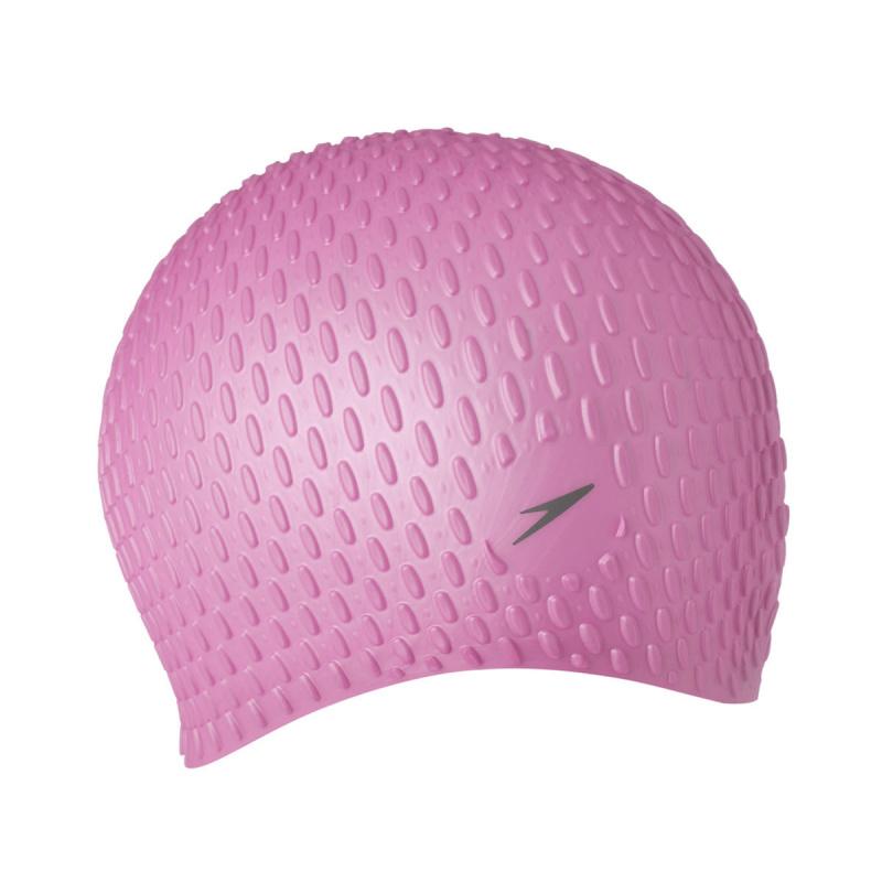 成人泡泡矽膠泳帽 (長髮適用) - 粉紅