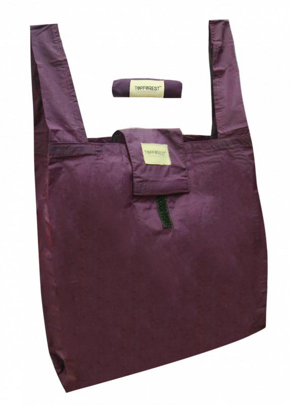 秒速摺疊便攜環保袋 純色氣質紫 購物必備 A01017