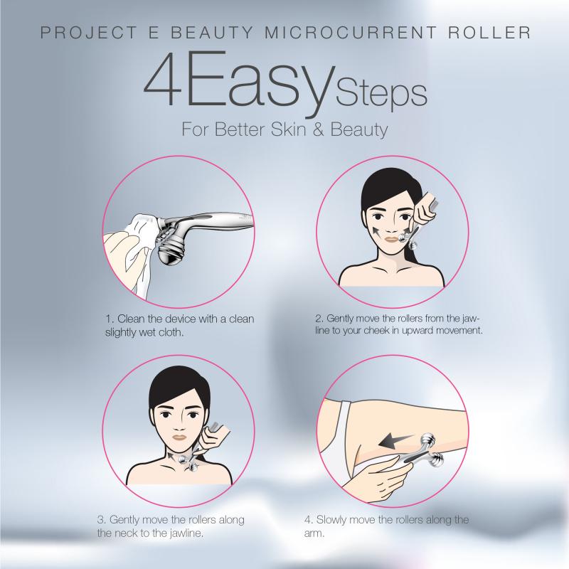 Project E Beauty VORA Microcurrent Facial Roller  緊膚小臉儀滾輪V臉提拉緊緻除皺太陽能微電流美容按摩器