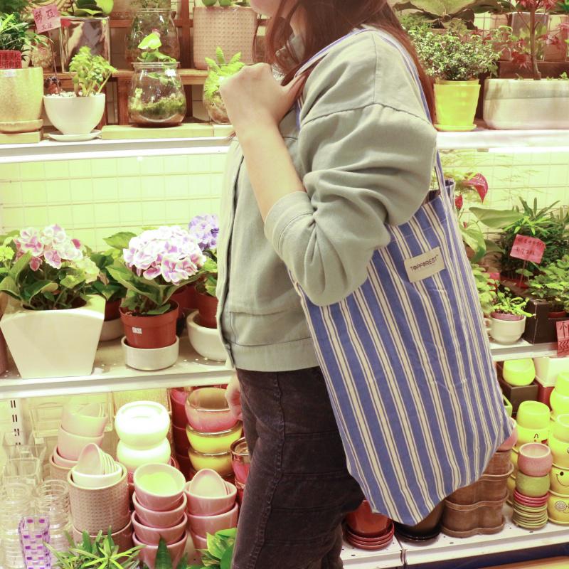 簡便純棉環保袋 橡根收合 超市購物 A04017