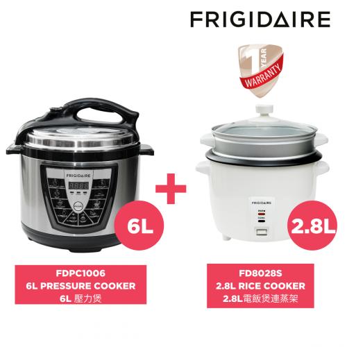 Frigidaire FDPC-1006 6L 壓力煲 送 FD8028S 2.8升 電飯煲連蒸架