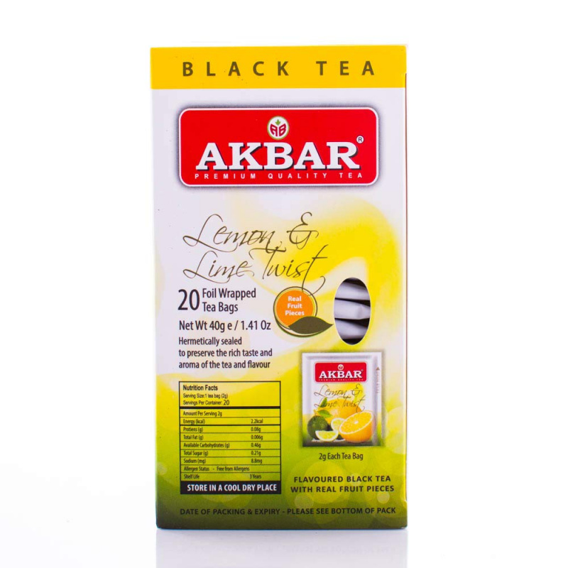 AKBAR 檸檬青檸紅茶 20小包(鋁箔袋) X 2g