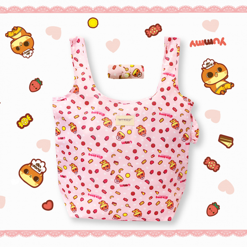 摺疊環保購物袋 可愛貓癲噹甜品師造型 A06017 獨家限量發售
