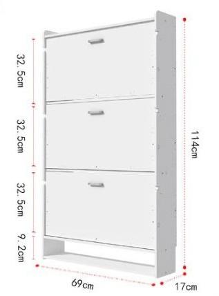 自組翻櫃式鞋櫃 69cm 2層 / 3 層