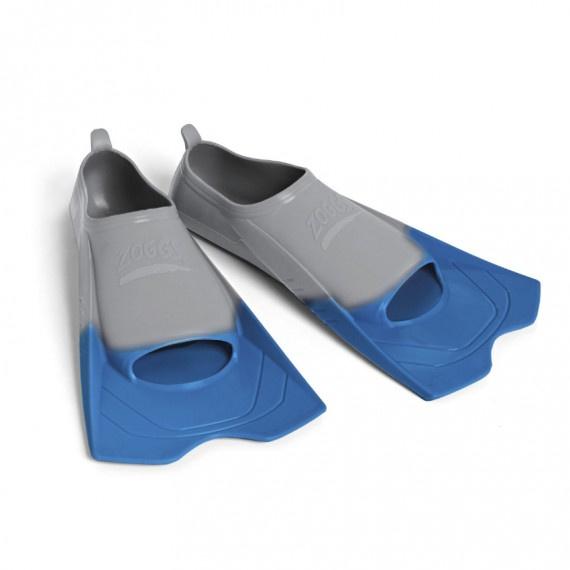 矽膠短蛙鞋 - 灰/藍