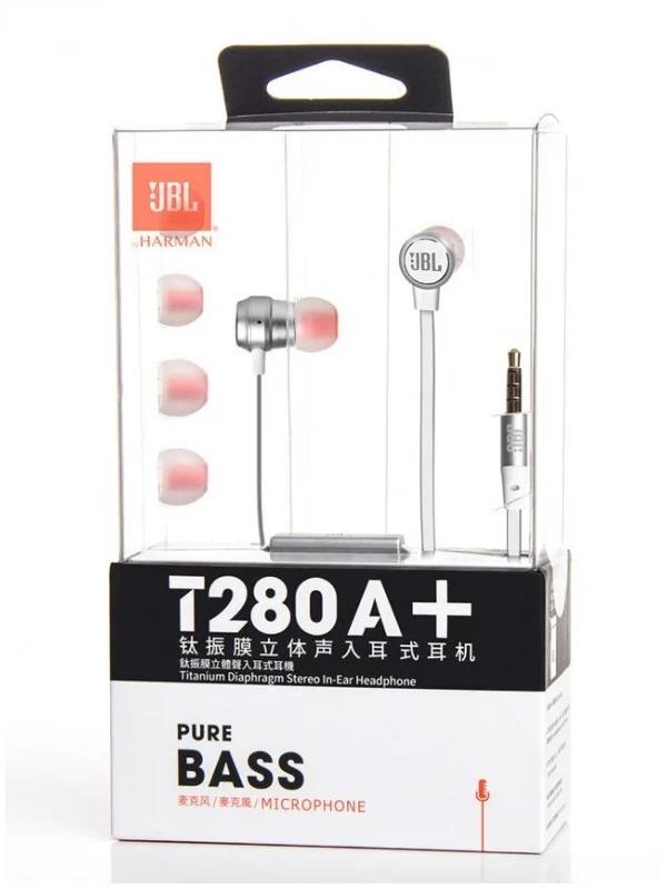 JBL T280A+ 鈦振膜立體聲入耳式耳機