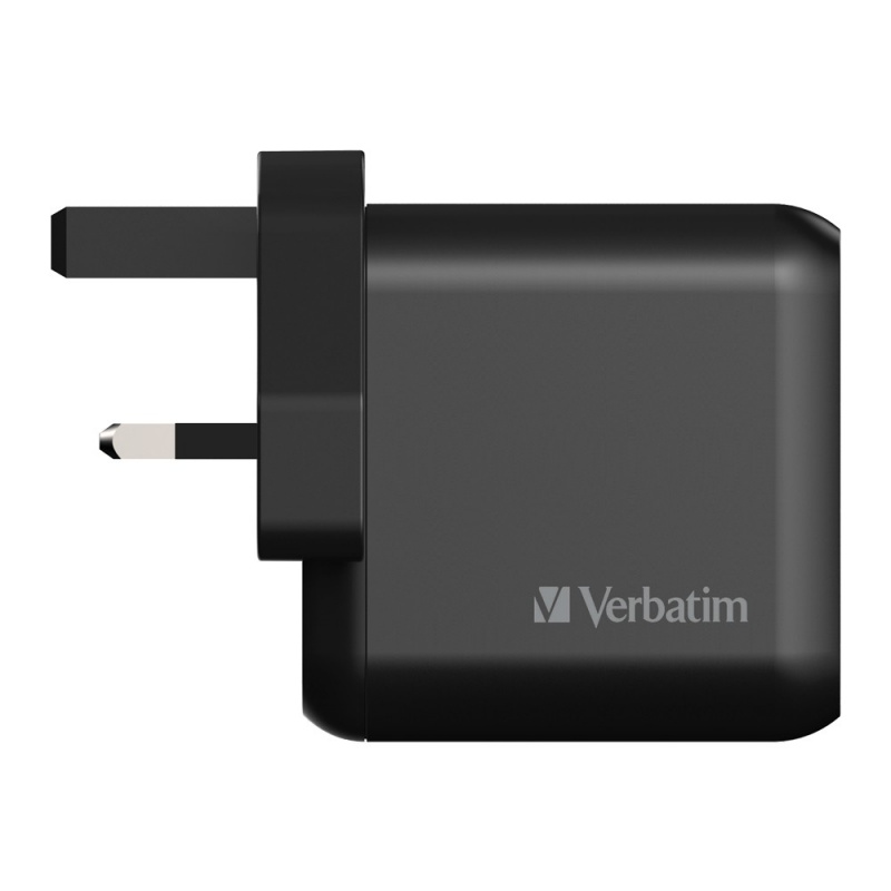 Verbatim 3 Port 65W PD 3.0 & QC 3.0 GaN USB充電器[66520]