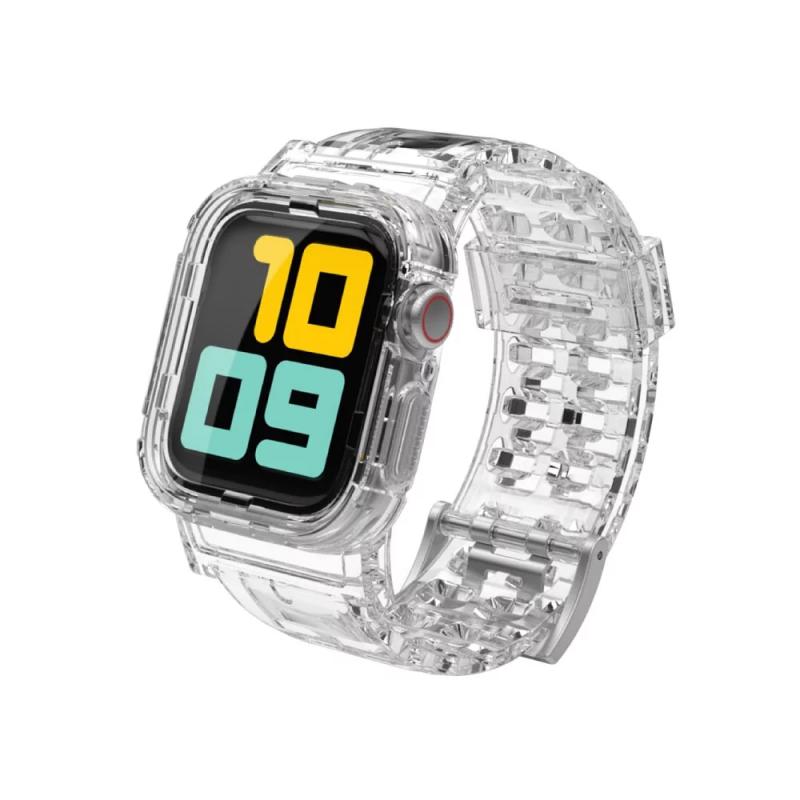 台灣Aha Style - Apple watch case 防摔透明運動錶帶 透明色