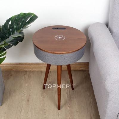 【歐美超熱賣】M-Plus Topmerit 無線充電藍牙音樂音箱茶几 [原木色/胡桃色]