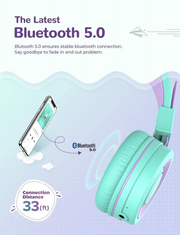 iClever BTH02 小童藍牙耳機(內置Mic)