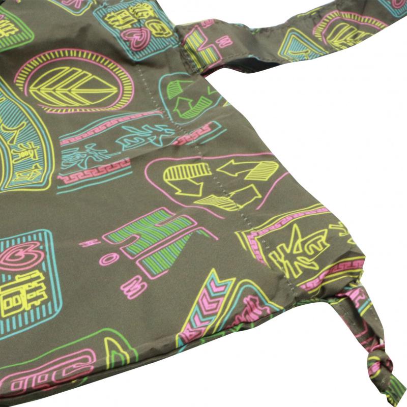 原創摺疊環保購物袋 束口索繩收納 香港霓虹燈 大容量儲物 A13017