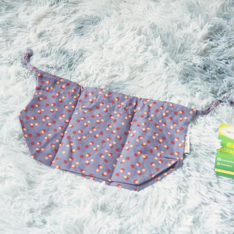 中秋節/ 月餅袋 / 冰皮月餅包裝 情迷紫色波點戶外帶飯便當抽繩袋 / 午餐飯盒索繩袋 / 多用途禮物索繩包裝袋 A21030