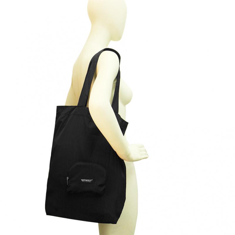貴族黑極簡便攜摺疊環保購物袋 小袋收合 A10027