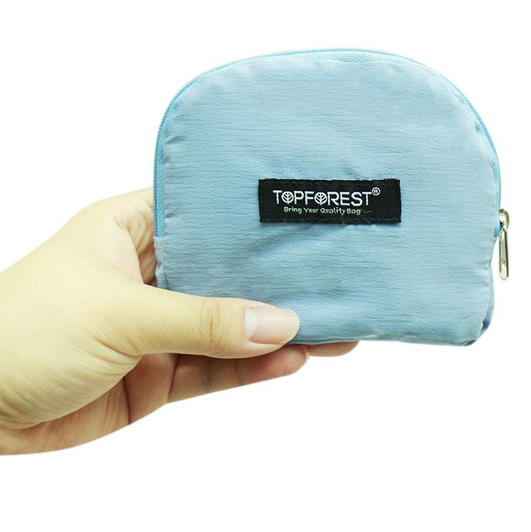 經典藍極簡便攜摺疊環保購物袋 小袋收合 A11027