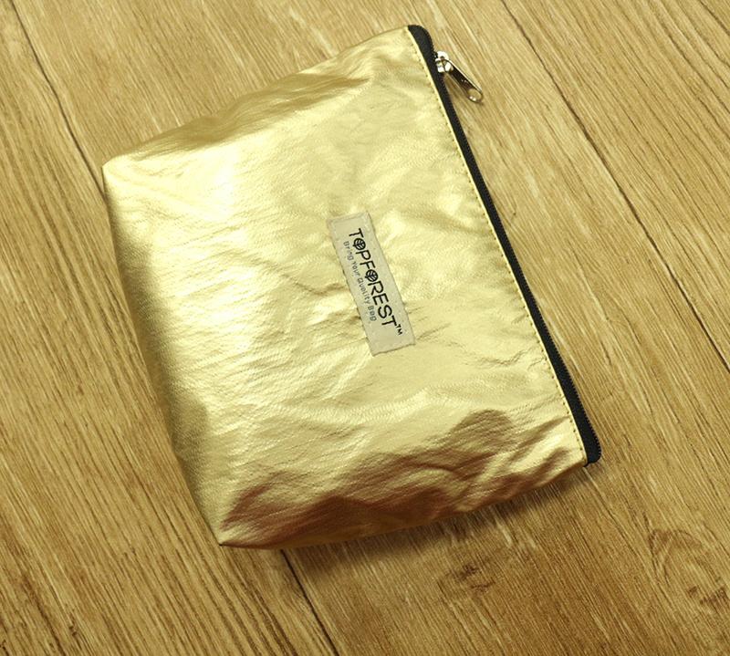 歐美流行 時尚香檳金色化妝袋 多用途收納 C01027