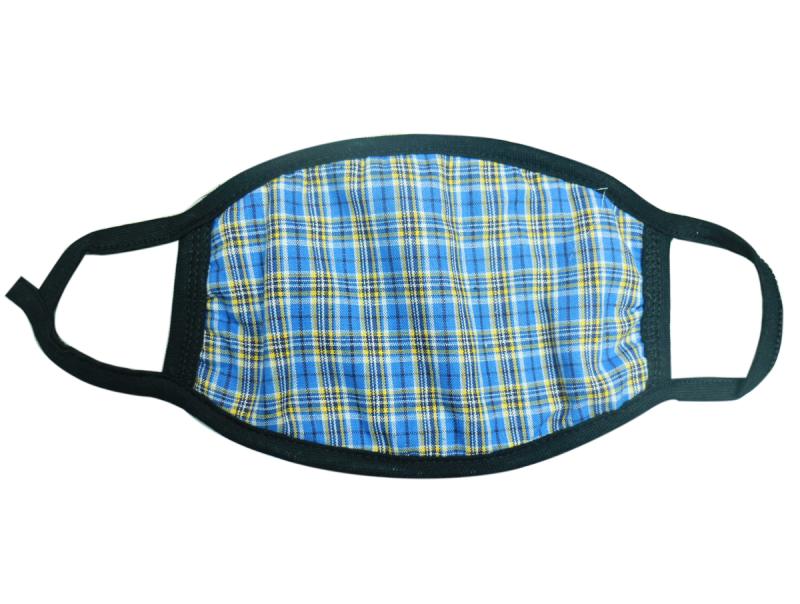 英倫方格紋 三層加厚防寒舒適重用棉布口罩(成人)3個 顏色款式隨機 不內置開口 - 適合秋冬或冷氣室內使用 M09020