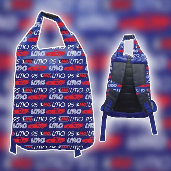 閃電王麥坤防水背包 12升 - 藍/紅