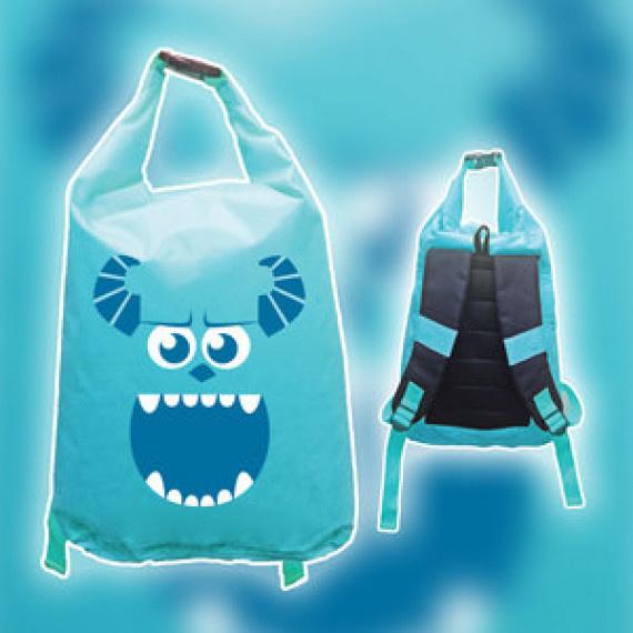 毛毛防水背包 12升 - 藍