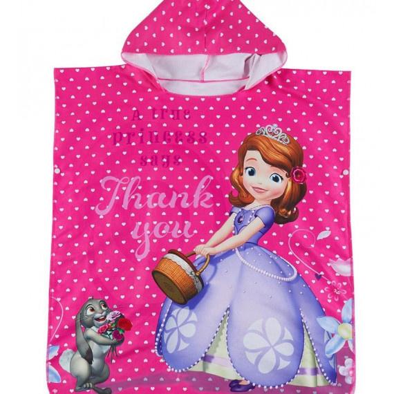 小公主蘇菲亞 超細纖維連帽吸水巾 - 粉紅