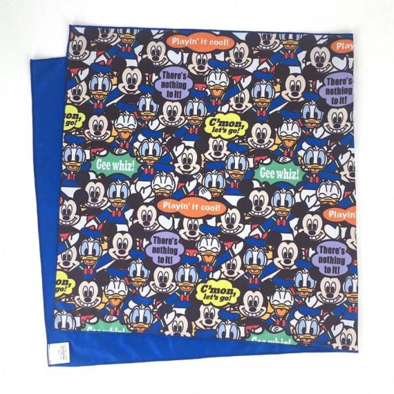 米奇與糖老鴨 冰涼毛巾 (100cm x 50cm) - 藍