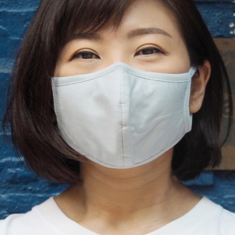 1個裝 男/女3D立體舒適藍色棉布口罩 耐用 可清洗重用 環保口罩 **不內置開口** - 適合秋冬或冷氣室內使用 M02020