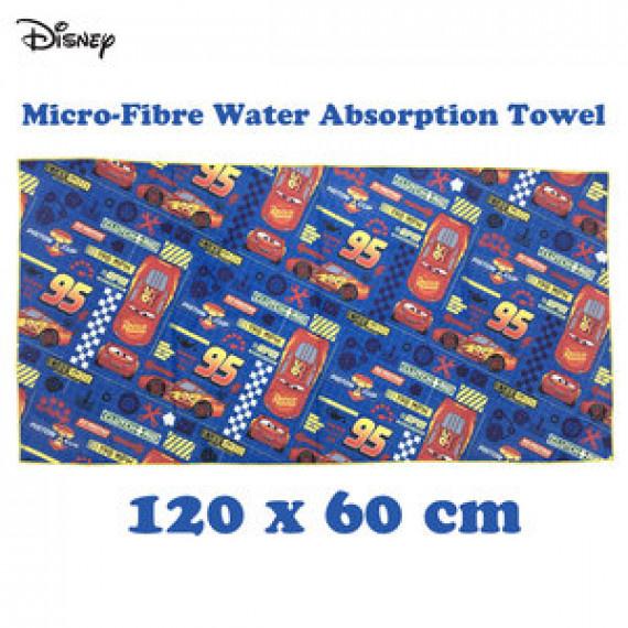 閃電王麥坤 強力吸水毛巾 (120cm x 60cm) - 藍/紅