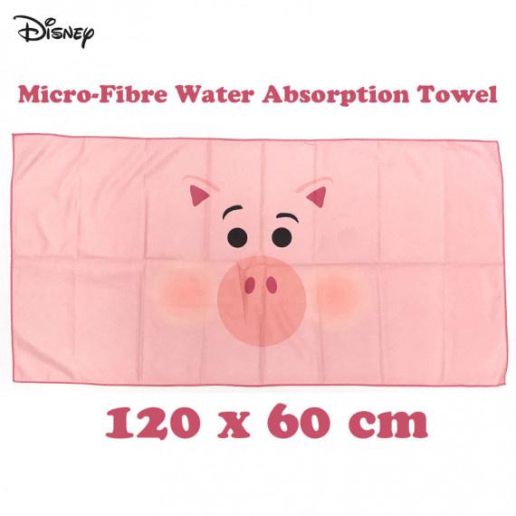 小豬 儲蓄罐火腿強力吸水毛巾(120cm x 60cm) - 粉紅