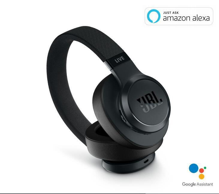 JBL LIVE 500BT 無線耳罩式耳機 / 便攜摺疊藍牙耳機 / 支援語音 Google Assistant, alexa【黑色】