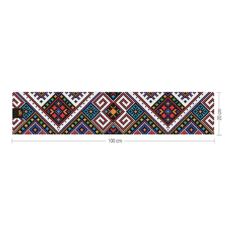 韓國製造微纖維毛巾 (100cm × 20cm) - 編織黑